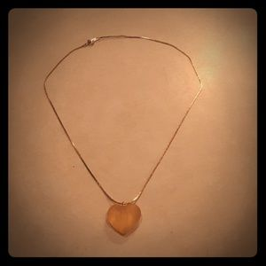 VTG costume heart necklace